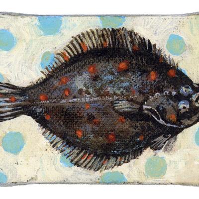 Olle Scholle, Acryl auf Leinwand, 5 × 7 cm