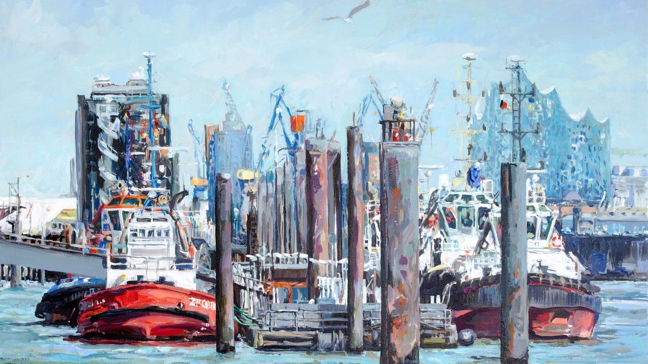 Hamburg Hafen Schlepper