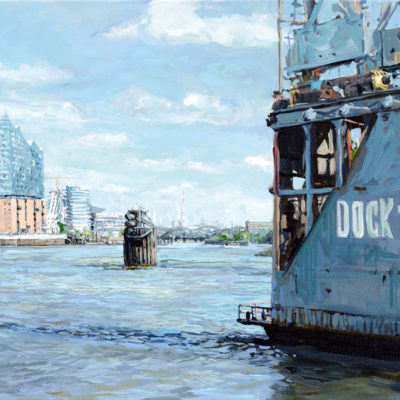 Dock 10, Acryl auf Leinwand, 50 × 70 cm