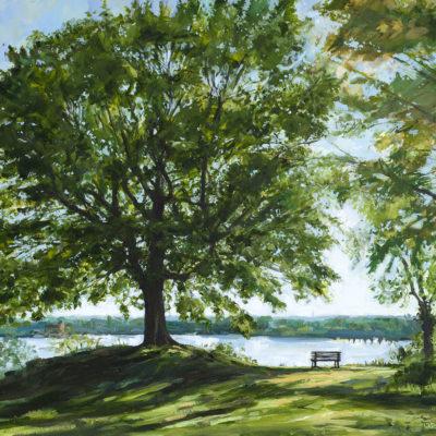 Elbblick, Acryl auf Leinwand, 70 × 80 cm