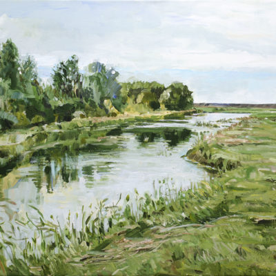 Katinger Watt, Acryl auf Leinwand, 50 × 100 cm