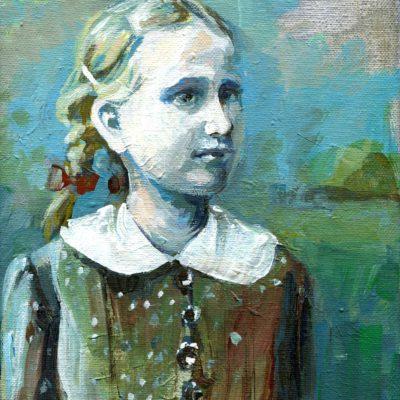 Kleine Marie, Acryl auf Leinwand, 24 × 18 cm